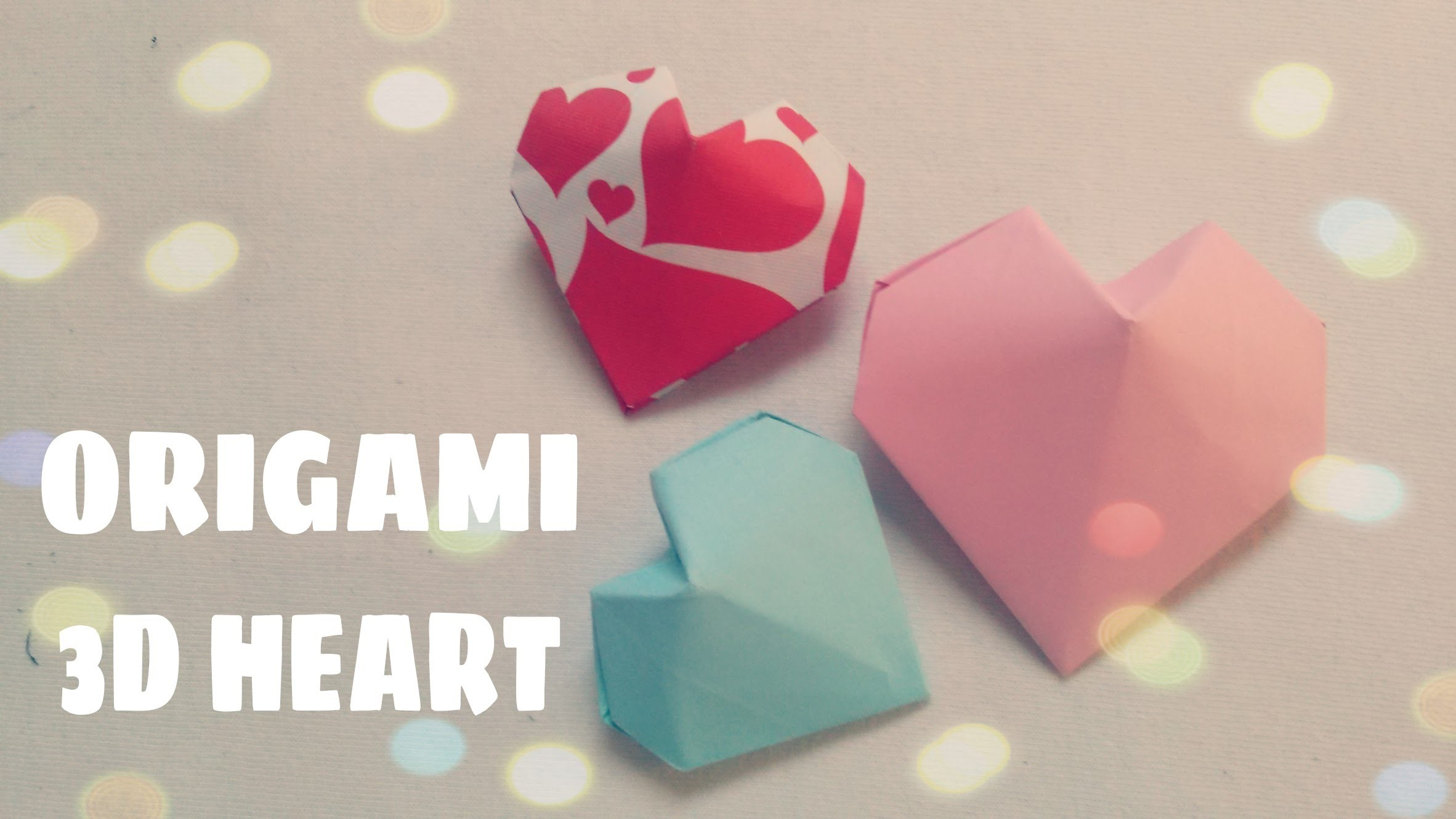 DIY Origami Ornament - 3D Origami Heart