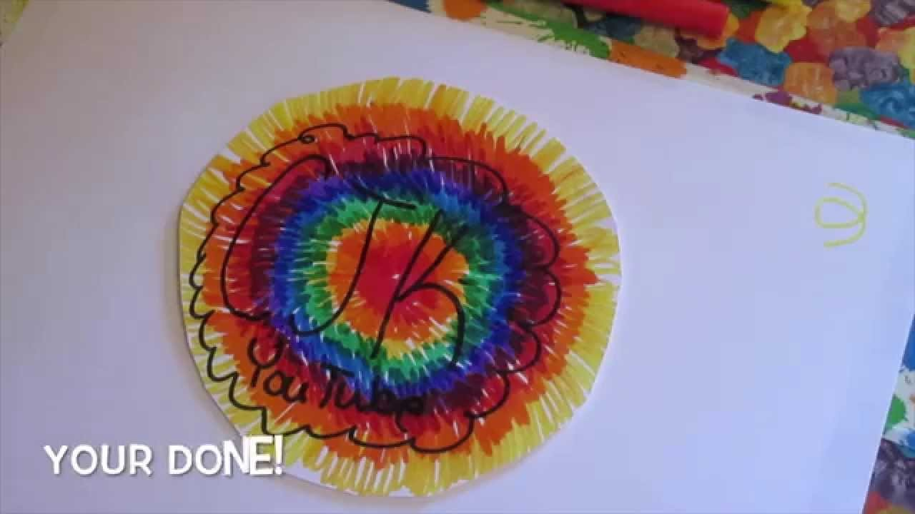 DIY tie dye wall art