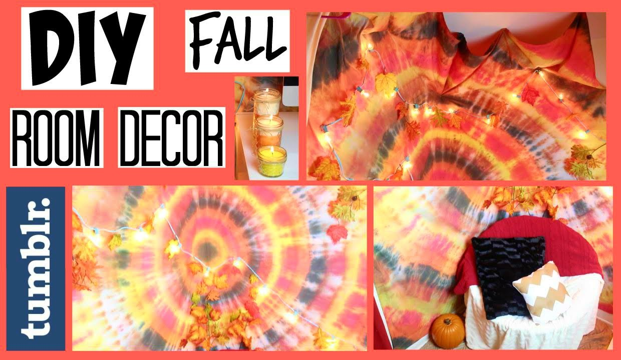 DIY Tumblr Fall Room Decor (Tapestry, Candles & Decorations) - HowToByJordan