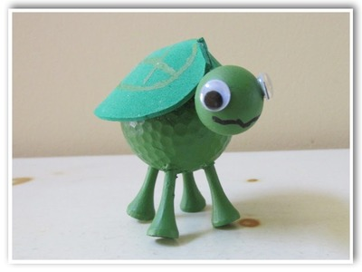 Golf Ball Turtle DIY