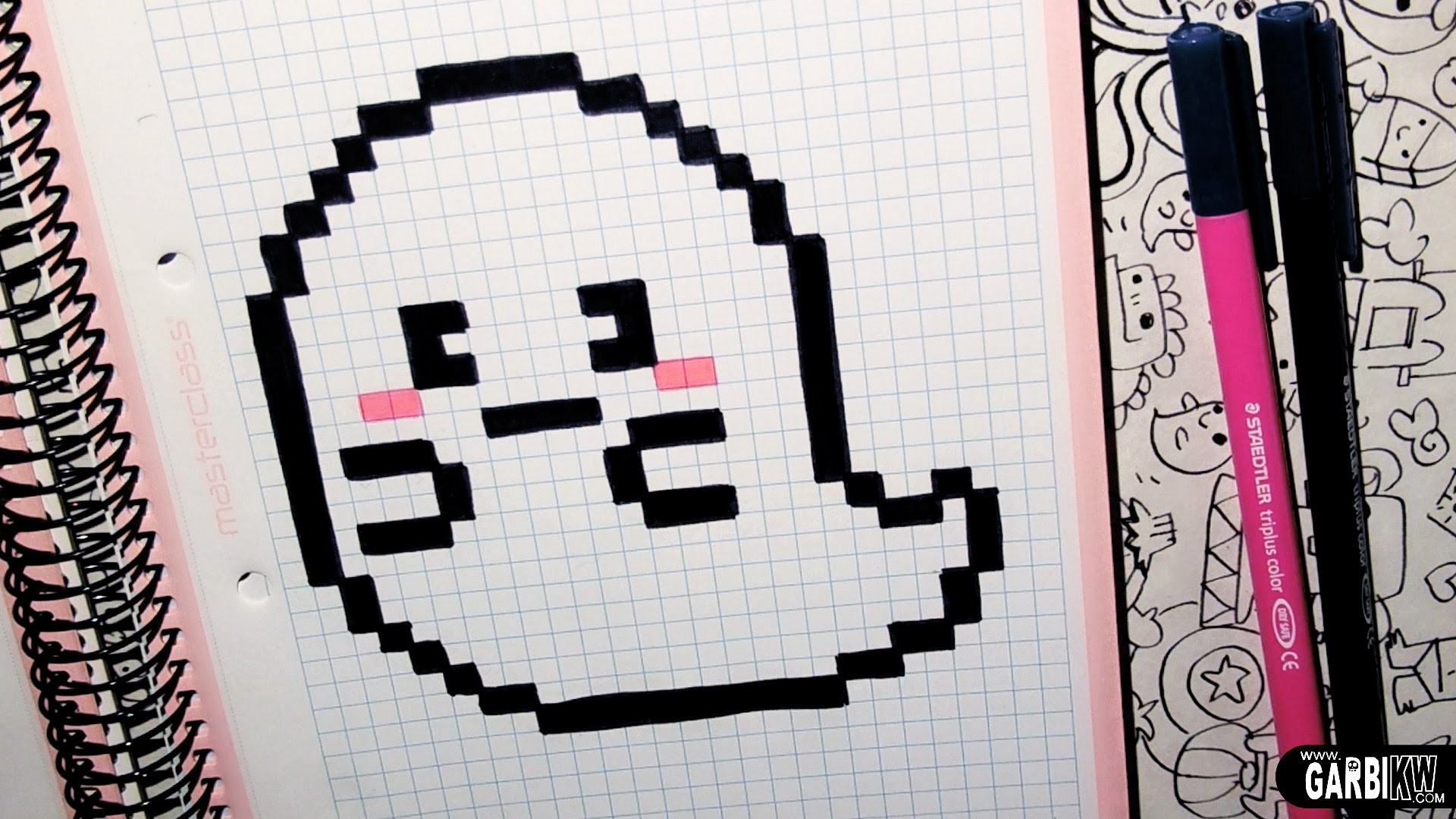 Handmade Pixel Art - How To Draw a Cute Ghost by Garbi KW