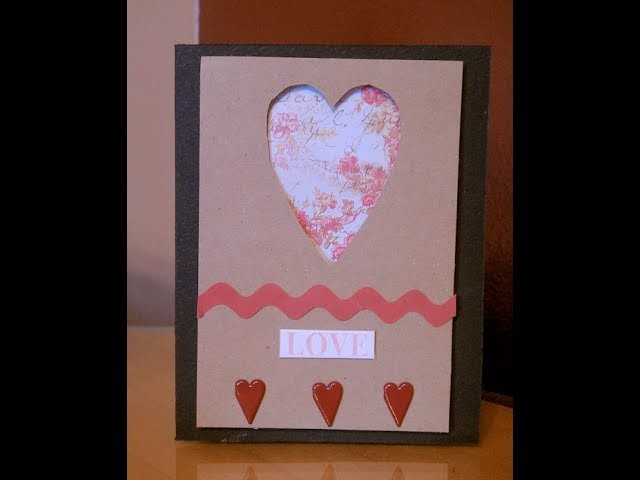 Heart Template Handmade Card