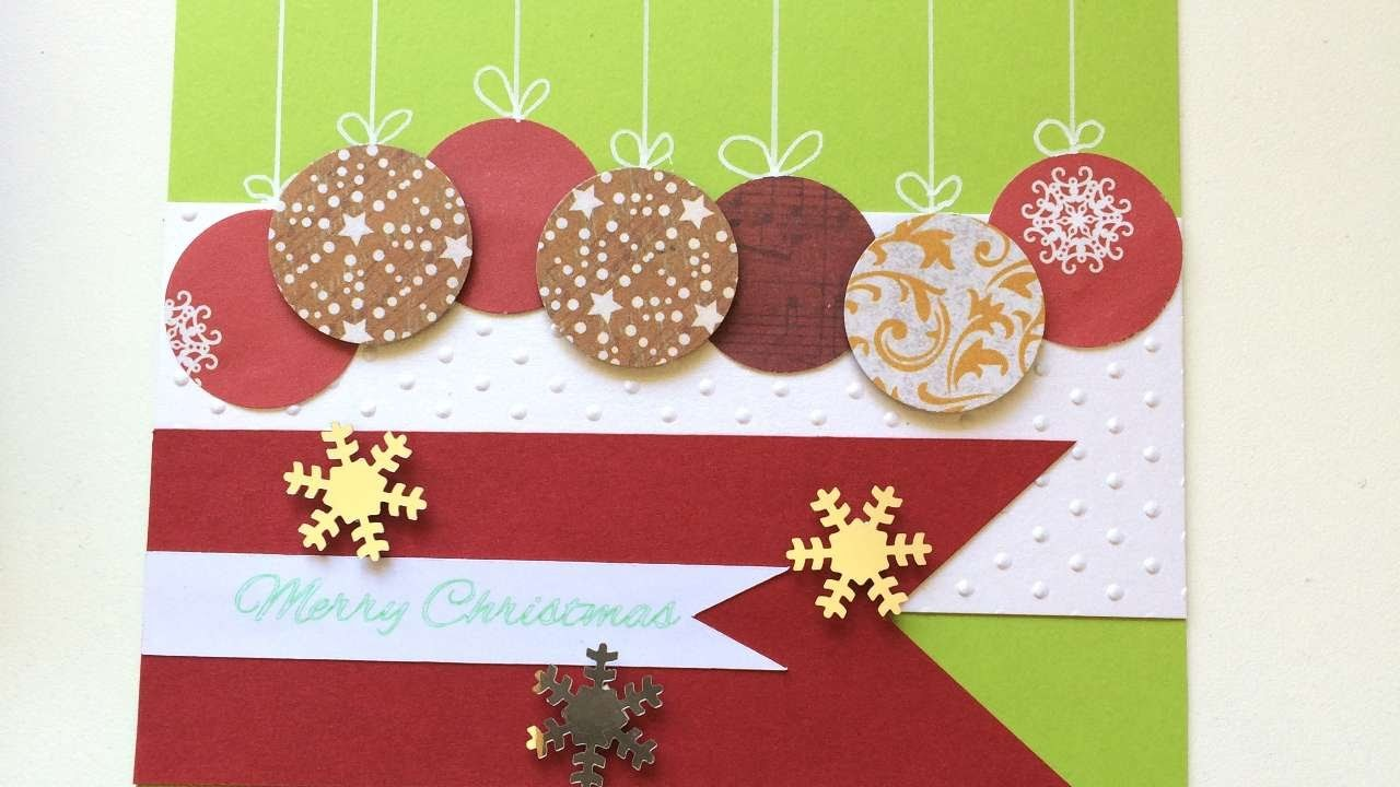 How To Make A Hanging Bauble Christmas Card - DIY Crafts Tutorial - Guidecentral