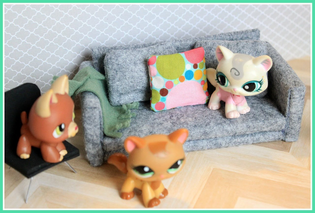 LPS - DIY Couch sofa EASY LPS CRAFTS