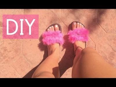 Quick Fix: Fur Sandals DIY