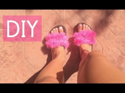 Quick Fix: Fur Sandals DIY