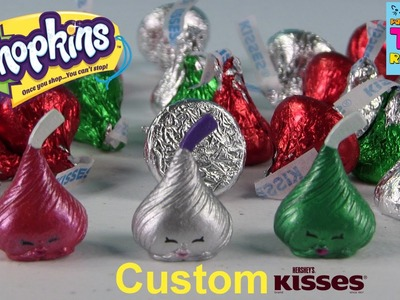 Shopkins CUSTOM Hershey Kisses Christmas| DIY Repaint | PSToyReviews