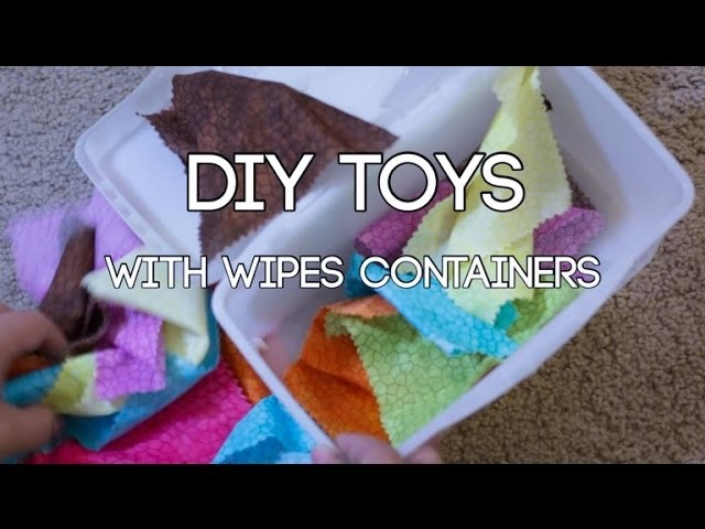 Toddler Activities with Wipes Containers - Simple DIY