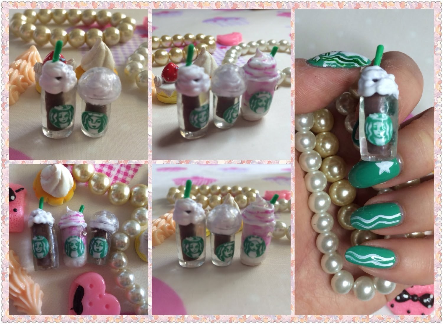 3D Nail Art Tutorial~~How To Make 3D Starbucks Drink