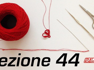 Chiacchierino Ad Ago 44˚ Tutorial Cluny Come Fare La Tecnica Needle Tatting How To Cluny