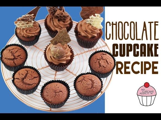 CHOCOLATE CUPCAKE RECIPE! The BEST Chocolate Cupcake Recipe EVER   Elise Strachan