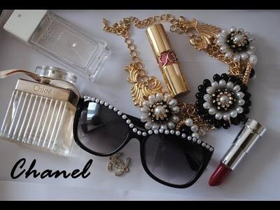 DIY- Chanel inspired sunglasses
