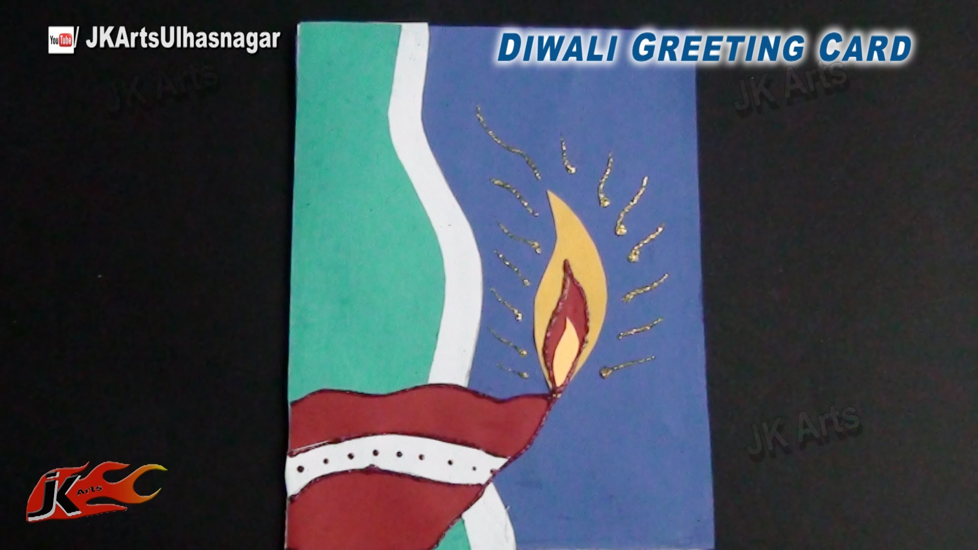 DIY Diwali Greeting Card | How To Make | JK Arts 769