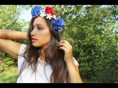 DIY: Floral head crown (flower headband)