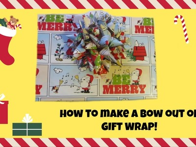 DIY Gift Bows (How To Make Bows Out Of Wrapping Paper)