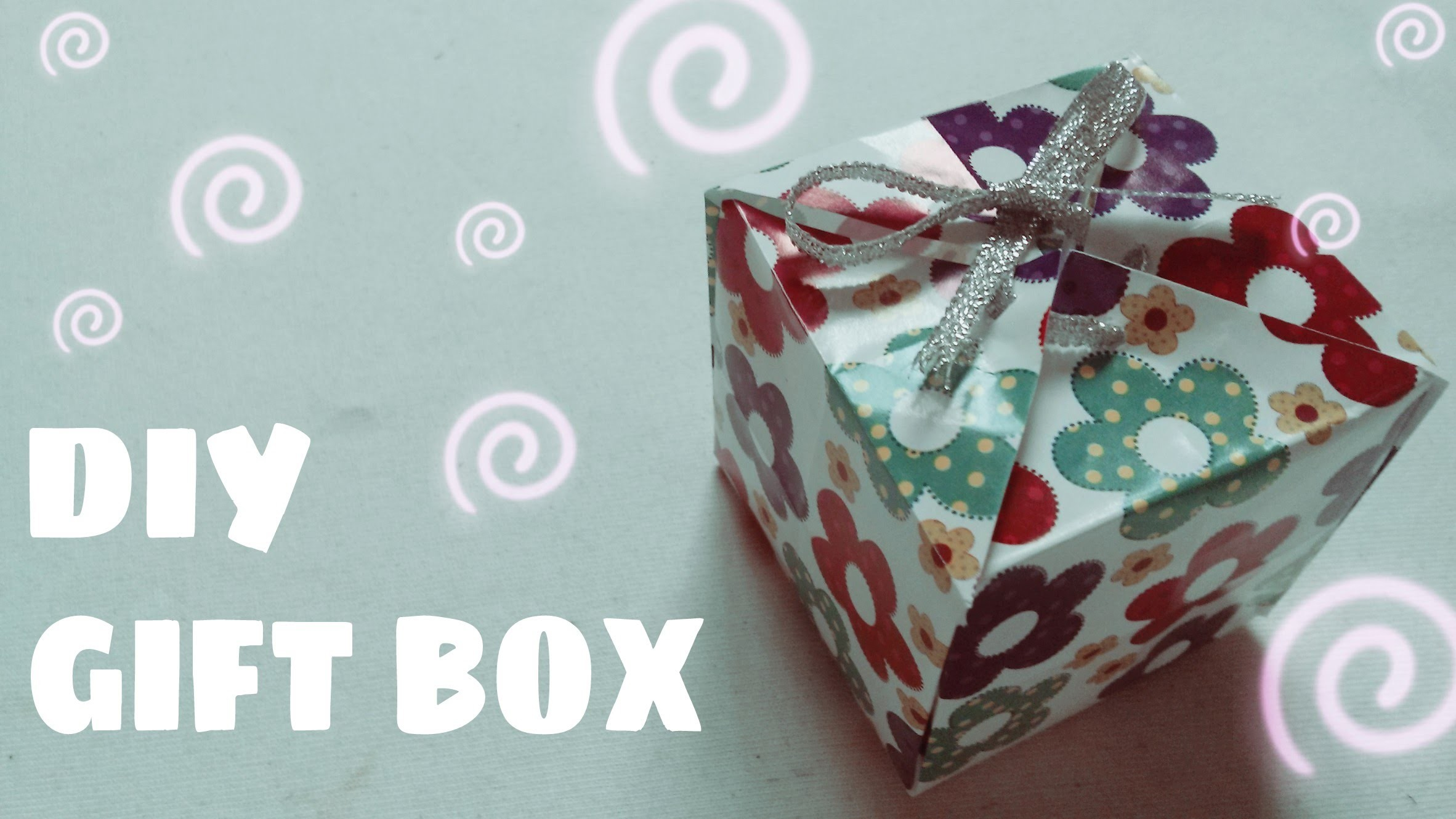 DIY - How to make a paper gift box (Easy)