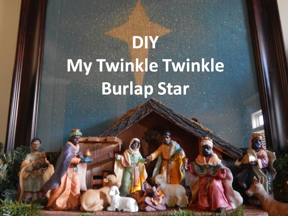 DIY My Twinkle Twinkle Little Burlap Star. Easy Christmas Decor #3