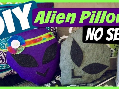 DIY: NO SEW ALIEN PILLOW! Cute + Easy Room Decor!  | CraftieAngie