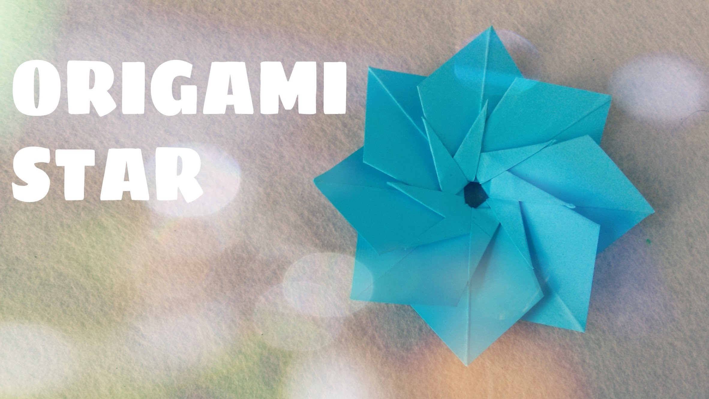 DIY Origami Ornament - Origami Spiral Star (Easy)
