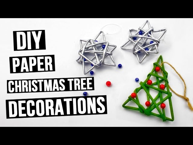 DIY paper Christmas tree decorations