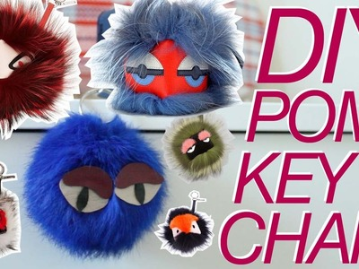 DIY POM KEYCHAIN | inspired by Fendi