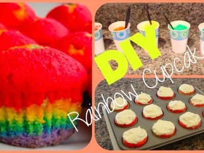 DIY Rainbow Cupcakes!