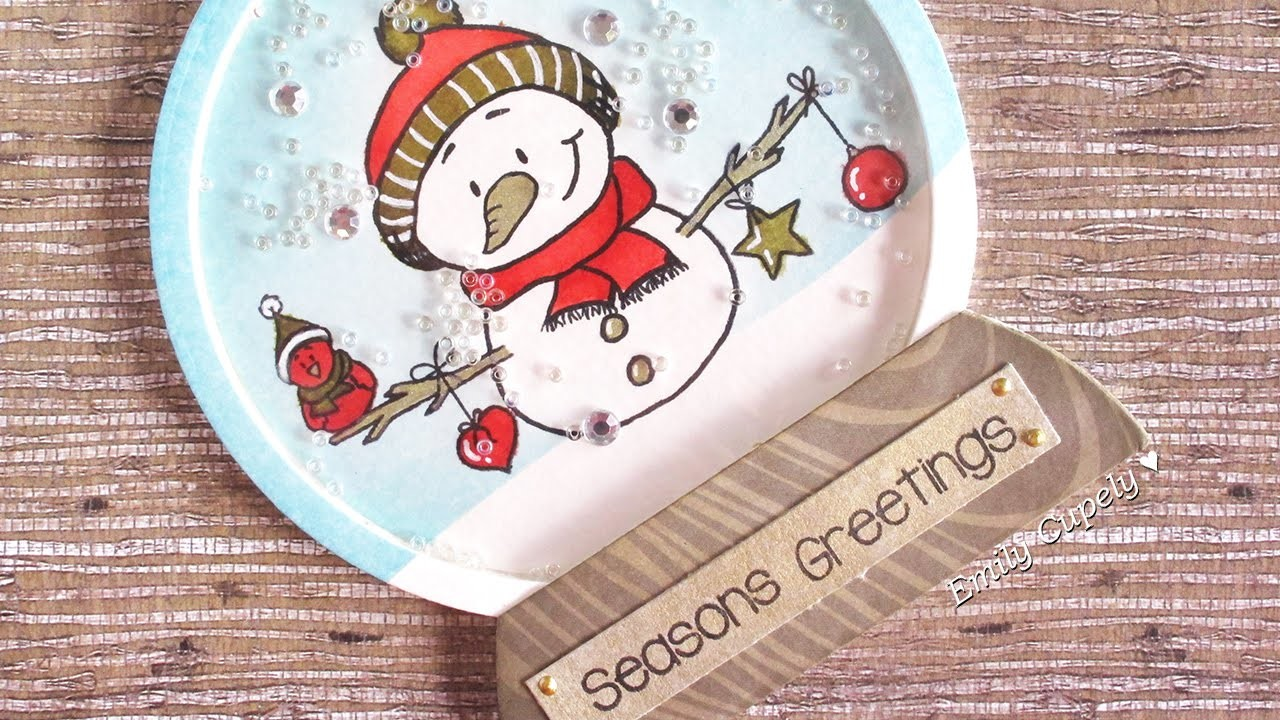 DIY Snow Globe | Shaker card ft. GSD + Giveaway