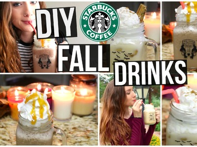 DIY Starbucks Fall Drinks! (Pumpkin Spice & Salted Caramel Mocha)