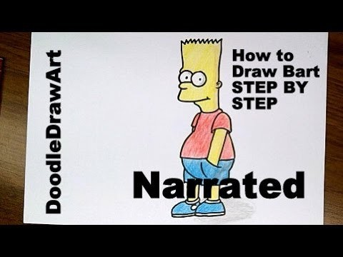 Drawing: How To Draw Bart Simpson - Step by Step Tutorial