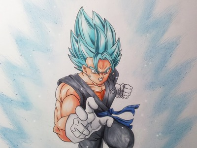 Drawing Vegito SSGSS - Super Saiyan God Super Saiyan | Super Saiyan Blue