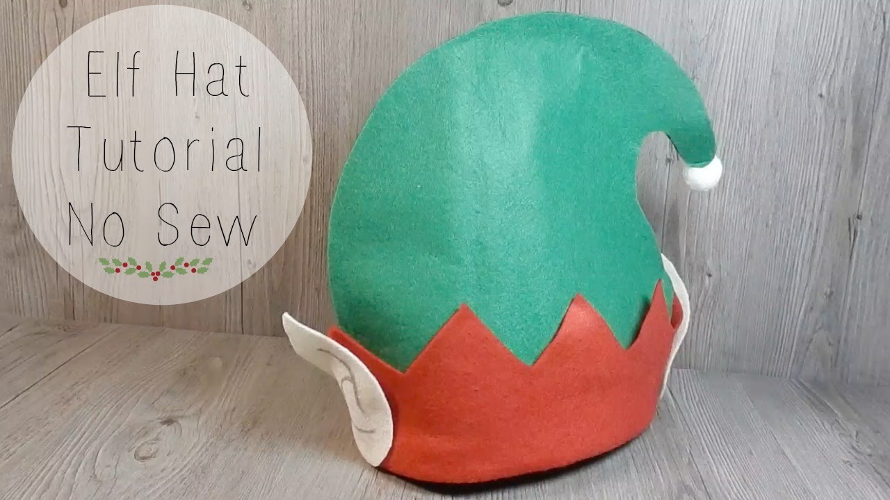 Easy Elf Hat Tutorial  No Sew