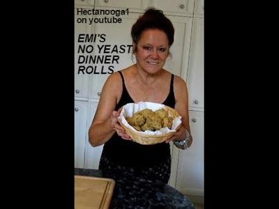 Emi's  NO YEAST DINNER ROLLS recipe, quick, easy, delicious, vegan