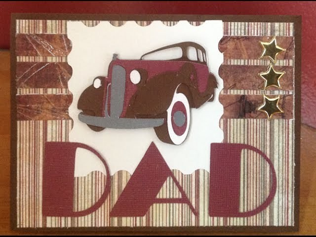 Father's Day Vintage Car Handmade Card