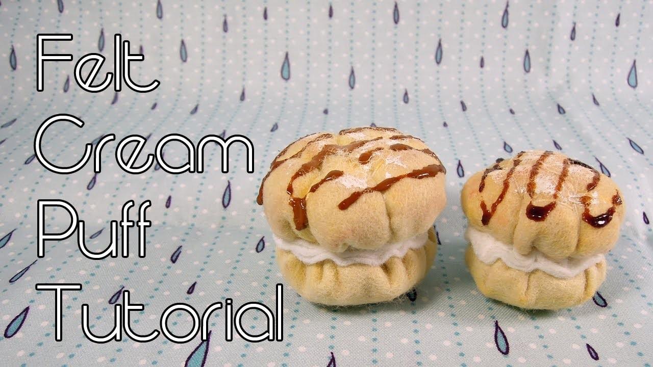 Felt Cream Puff [Tutorial