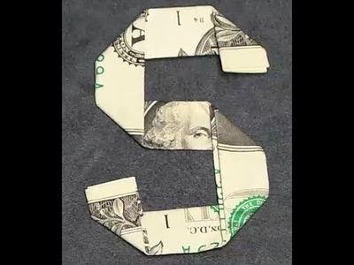 Fold Origami Dollar Bill Alphabet Letter S