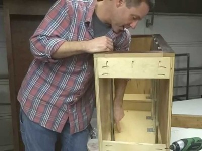 How To Build Your Own Kitchen Cabinets: Part 6d - Installing Drawer Slides