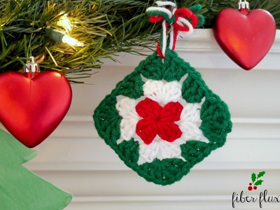How To Crochet A Quick Granny Ornament, Episode 273