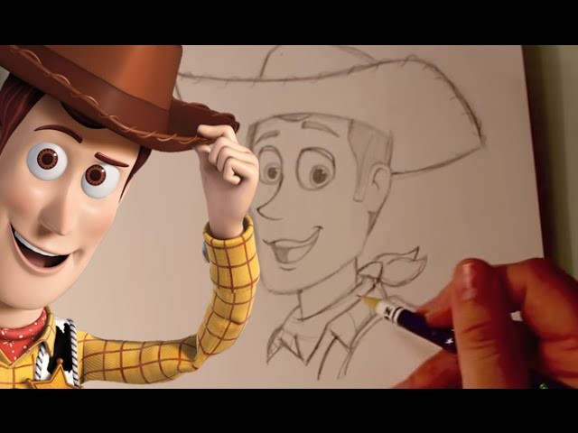 How to Draw WOODY from Pixar's Toy Story - @DramaticParrot