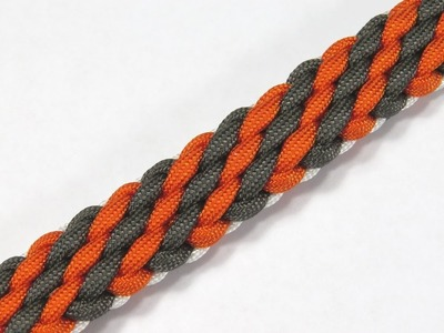 How to make a Tiger Stripe Sinnet Paracord Bracelet Tutorial (Paracord 101)
