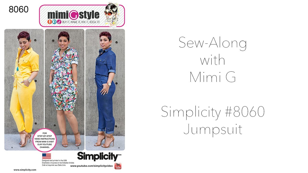 How to Sew a Jumpsuit with Mimi G Style Simplicity 8060