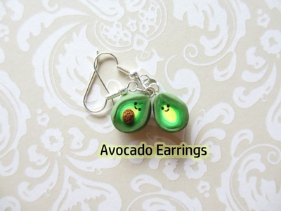 Kawaii Avocado Earrings Tutorial