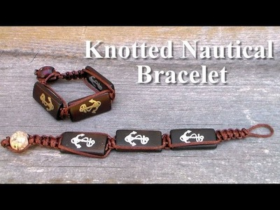Knotted nautical bracelet tutorial