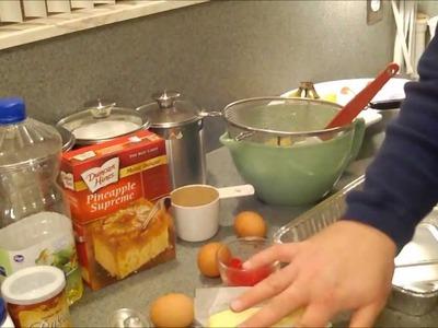 Making Pineapple Upside Down Cake.wmv