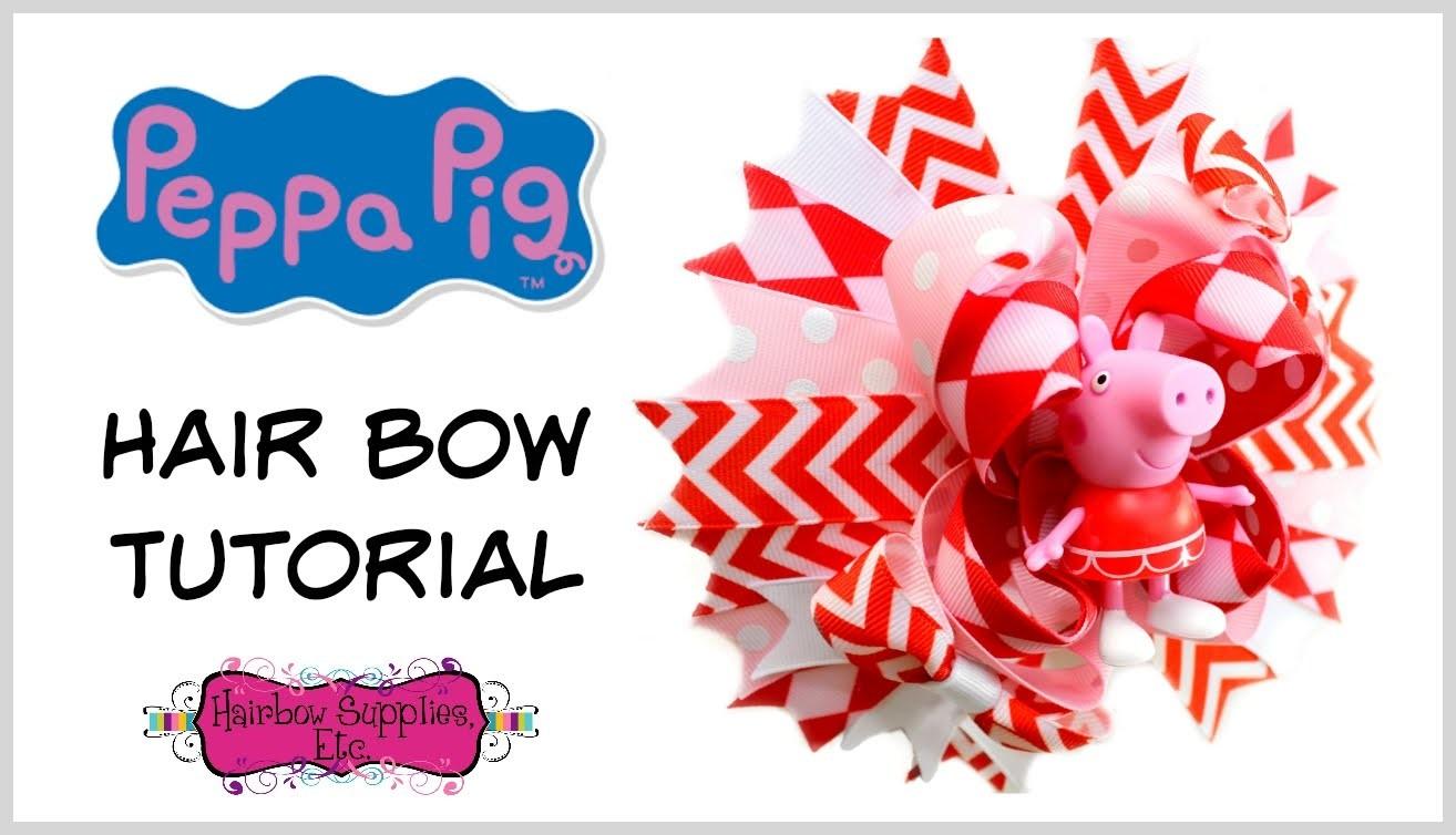 Peppa Pig Hair Bow Tutorial - Hairbow Supplies, Etc.