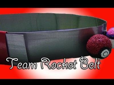 Pokemon Team Rocket Cosplay Belt Tutorial