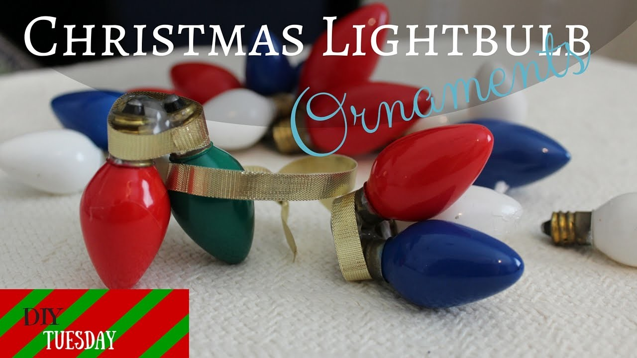 Recycled Christmas Light Decorations-DIY