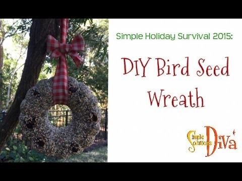 SimpleSolutionsDiva.com: DIY Bird Seed Wreath