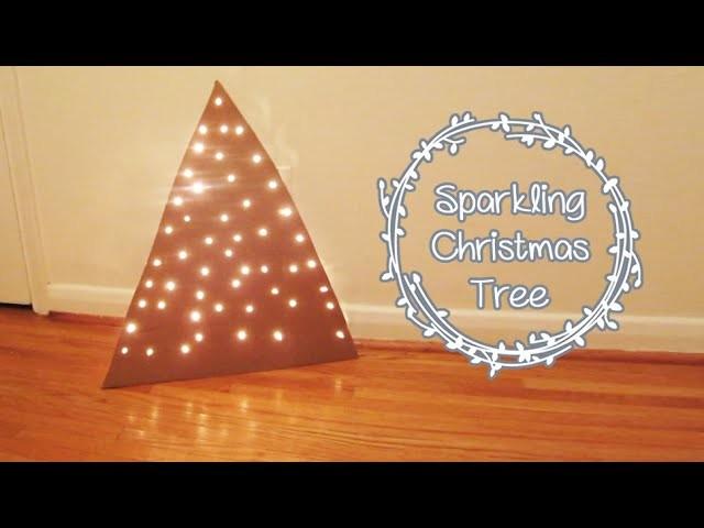 Sparkling Modern Cardboard Christmas Tree | Sunny DIY
