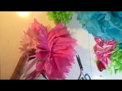 Tissue paper decorations DIY