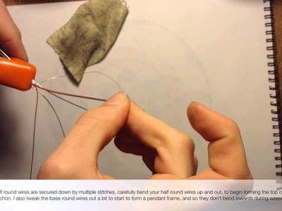 Wire Wrap Tutorial by Stillness - Weave Setting